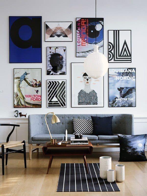 Картины разного размера для украшения комнаты