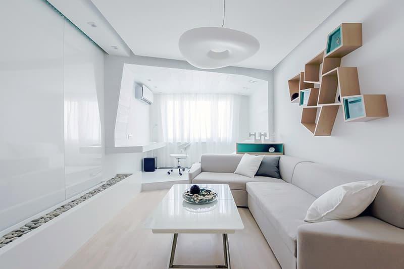 Мінімалізм в інтер'єрі вітальні