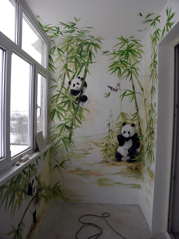 Нанесение рисунка на стену для создания уюта в комнате