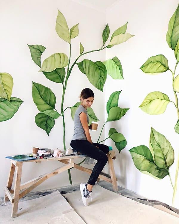 Нанесение рисунка на стену своими руками