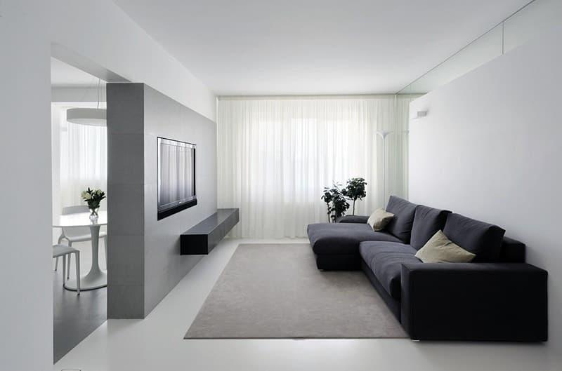 Оформлення дизайну вітальні в мінімалістичному стилі