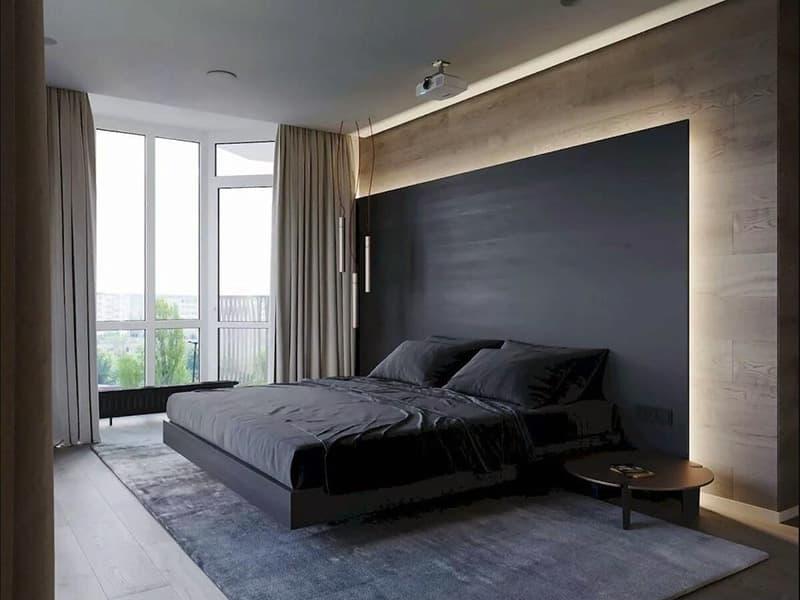 Оформлення дизайну спальні в стилі мінімалізм