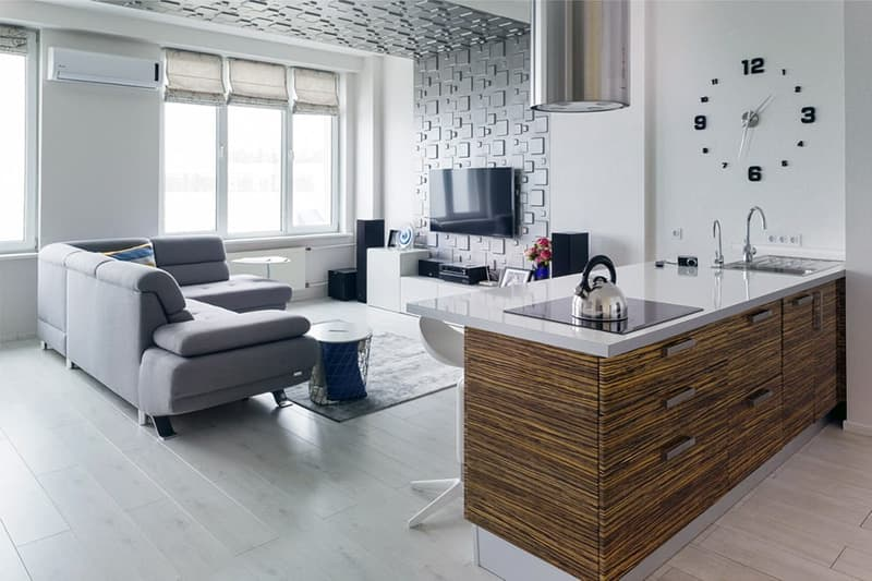 Приклад інтер'єру мінімалістичний кімнати з елементами декору