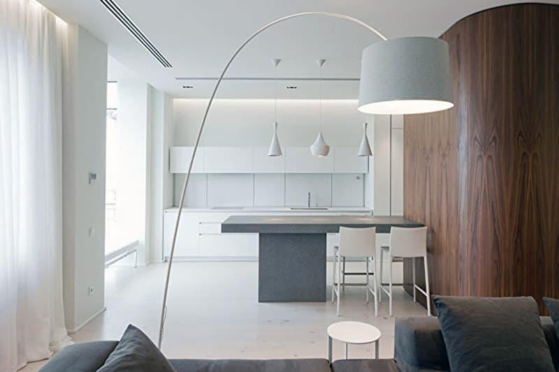 Світильники в однотонному виконанні для мінімалістичного дизайну кімнати