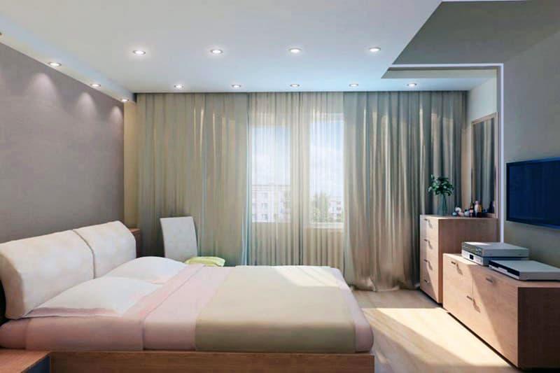 Точечные светильники для спальни