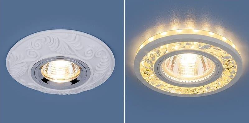 Точечные светильники в классическом стиле