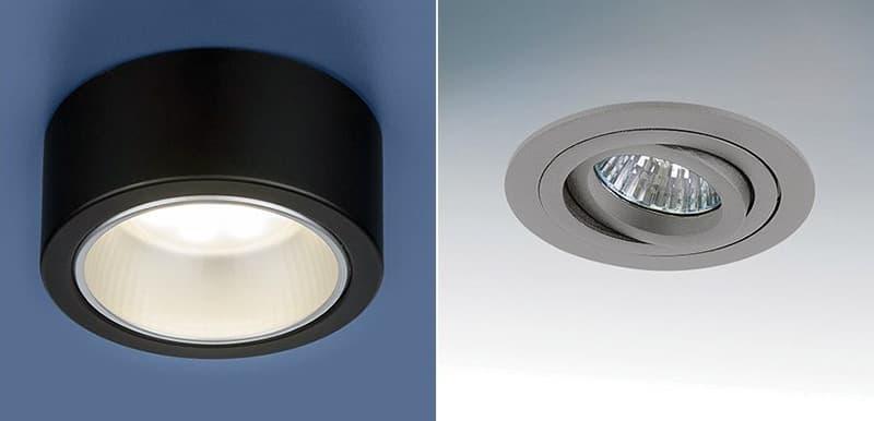 Точечные светильники в современном стиле