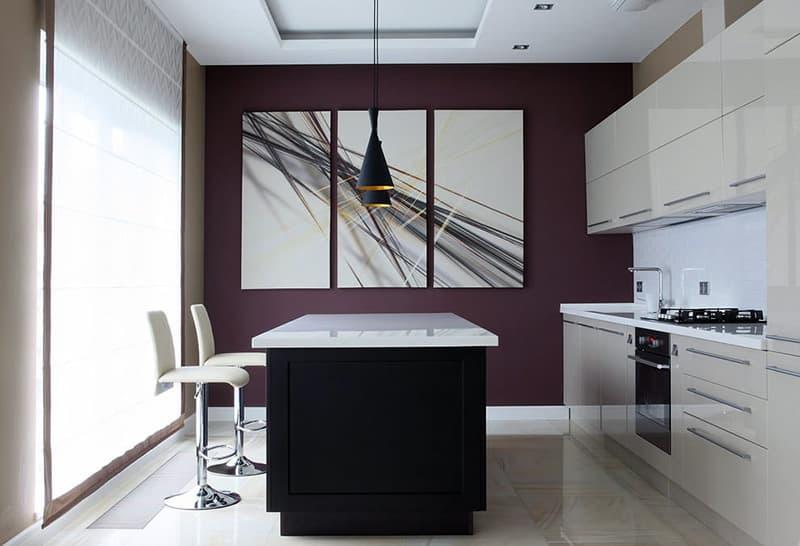 Прикраса кімнати в стилі мінімалізм картинами