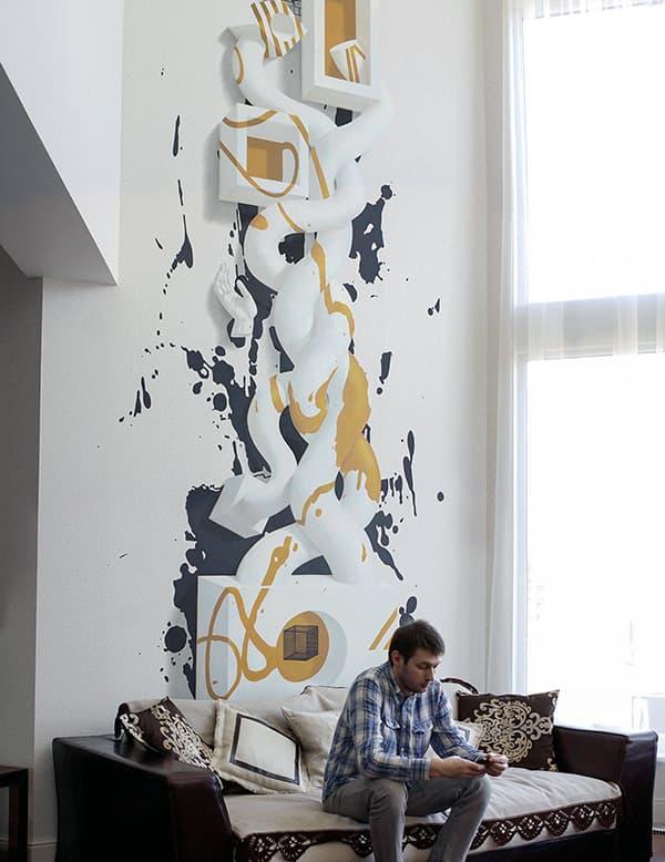 Уют в комнате с помощью арта на стене