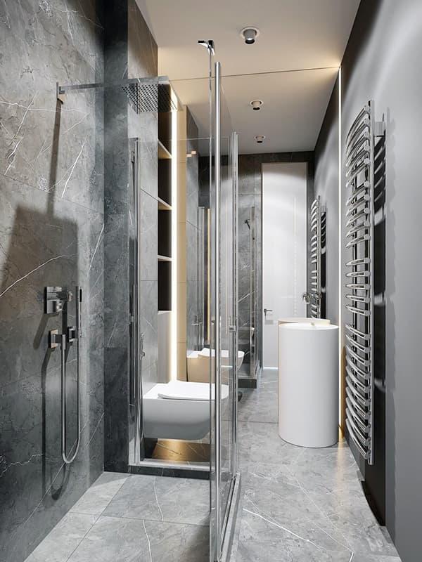 Ванна кімната в стилі мінімалізм