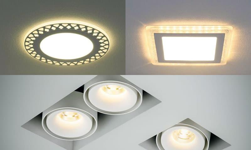Встраиваемые точечные светильники