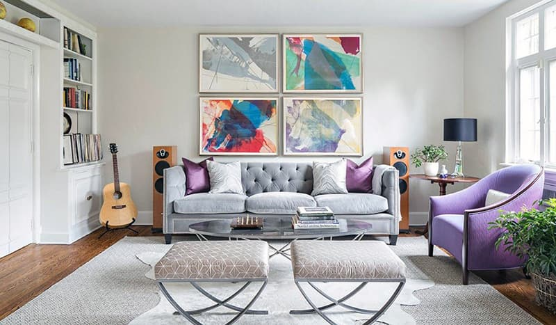 Яскраві відтінки в інтер'єрі кімнати