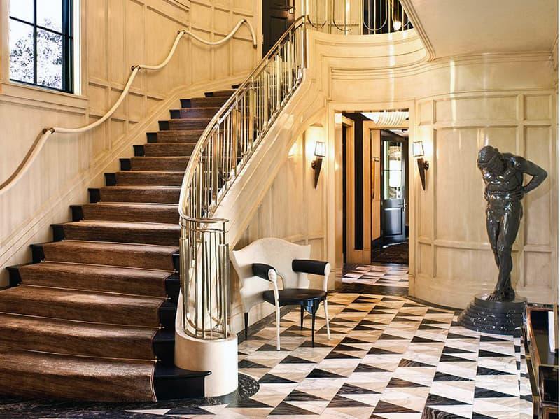 Ар-деко лестница в дизайне интерьера дома