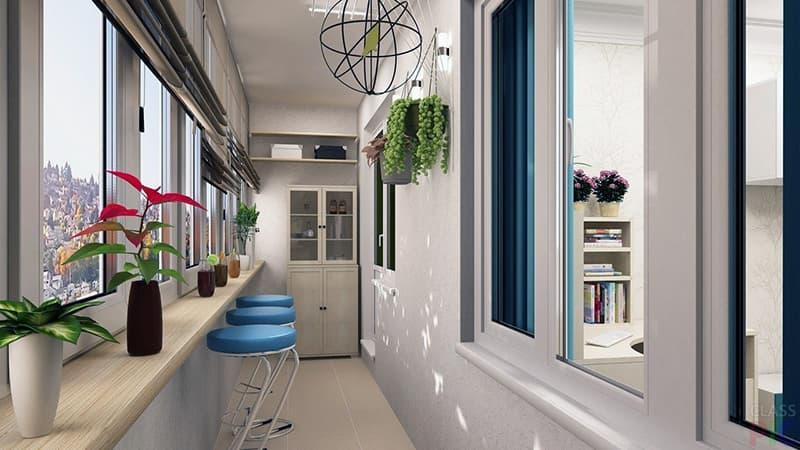Дизайн заскленоі лоджії в квартирі