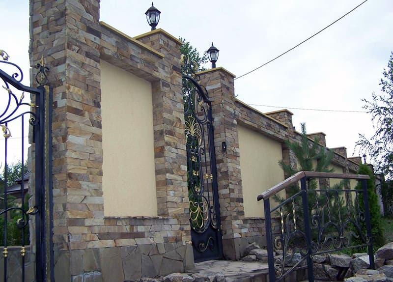 Додаткове прикраса паркану з каменю