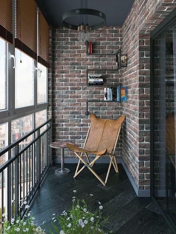 Как оформить балкон в стиле лофт