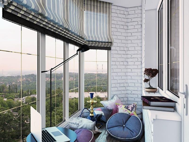 Как оформить дизайн большого балкона