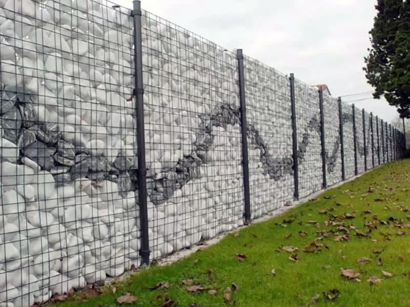 Как выложить забор Габион из камня