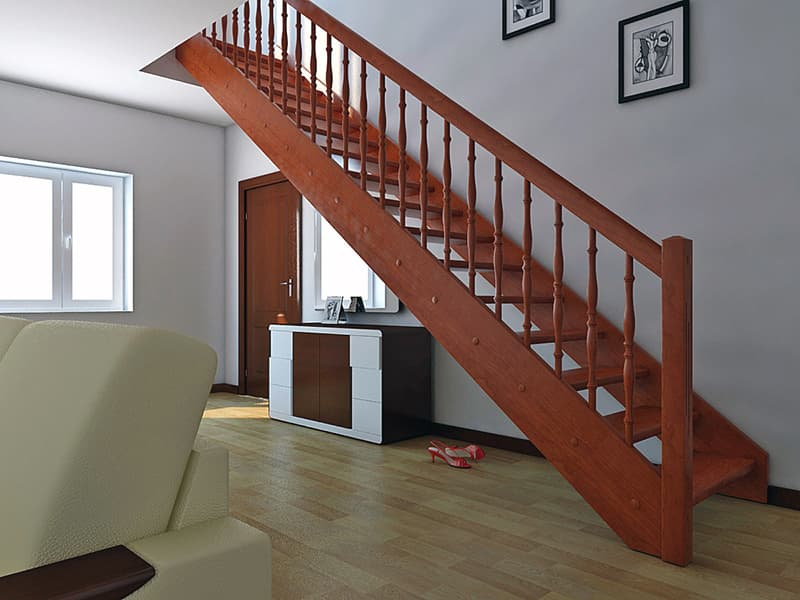 Сходи тятива в дизайні будинку
