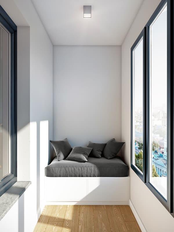 Оформление балкона в стиле минимализм