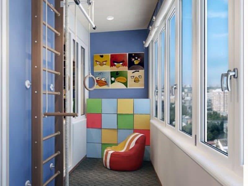 Оформление детской комнаты на балконе
