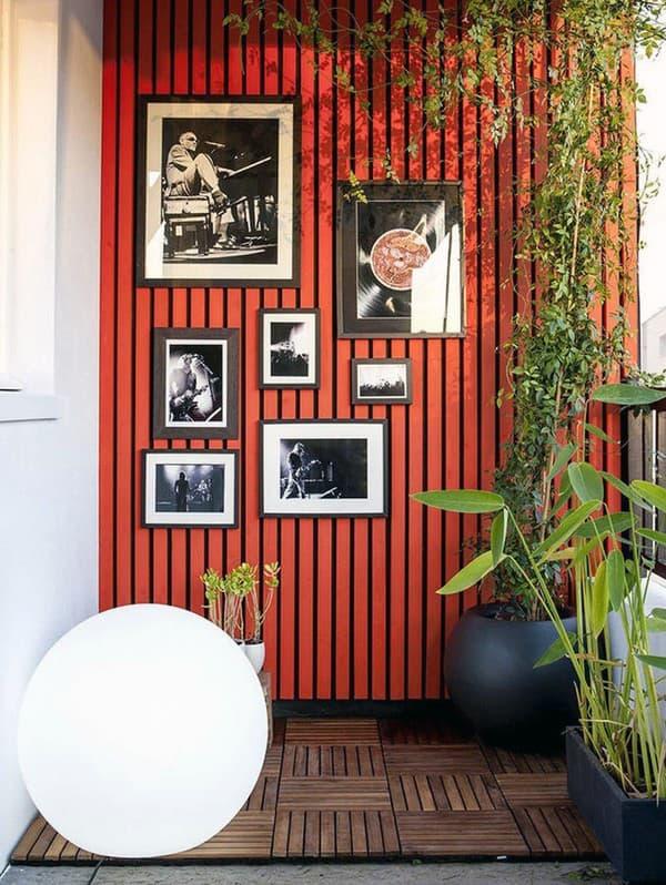 Пример декора балкона квартиры