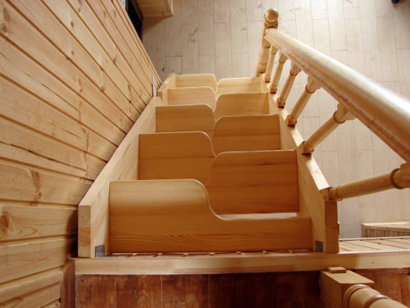 Пример лестницы утиный шаг