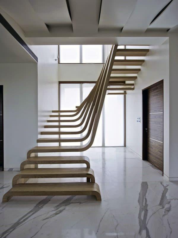 Пример лестницы в минималистичном стиле