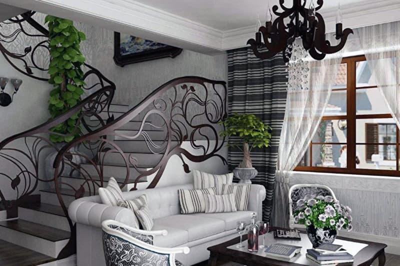Пример лестницы в стиле ар-деко