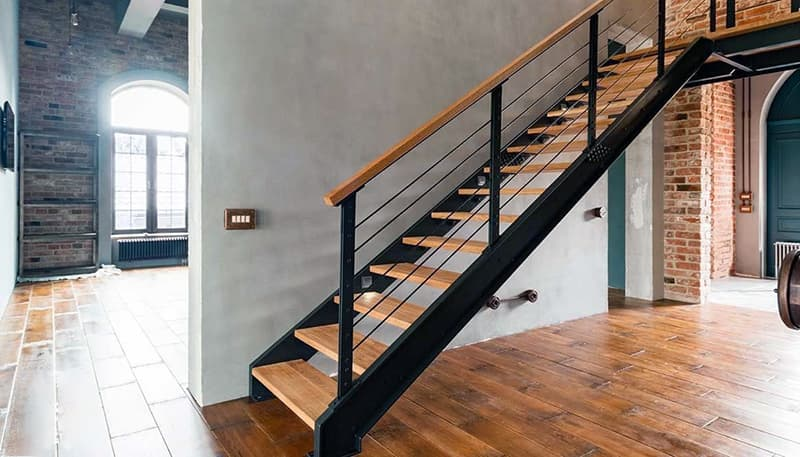 Пример лестницы в стиле лофт