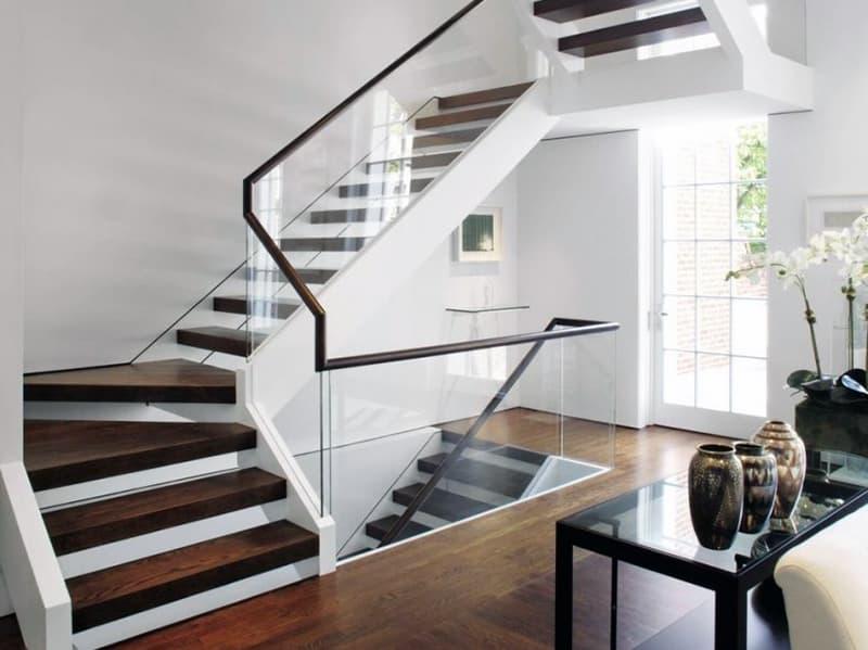 Пример лестницы в стиле модерн