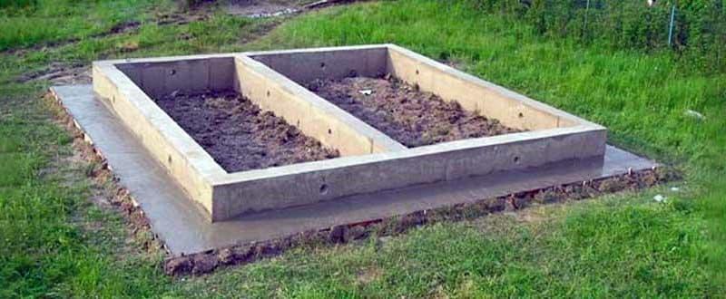 Приклад зведеного фундаменту для лазні