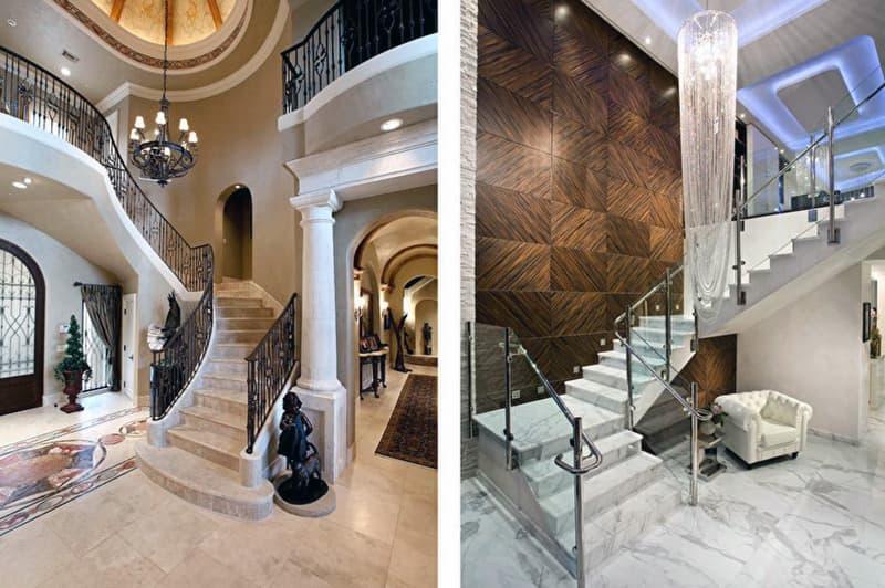 Приклади сходів з каменю в будинку