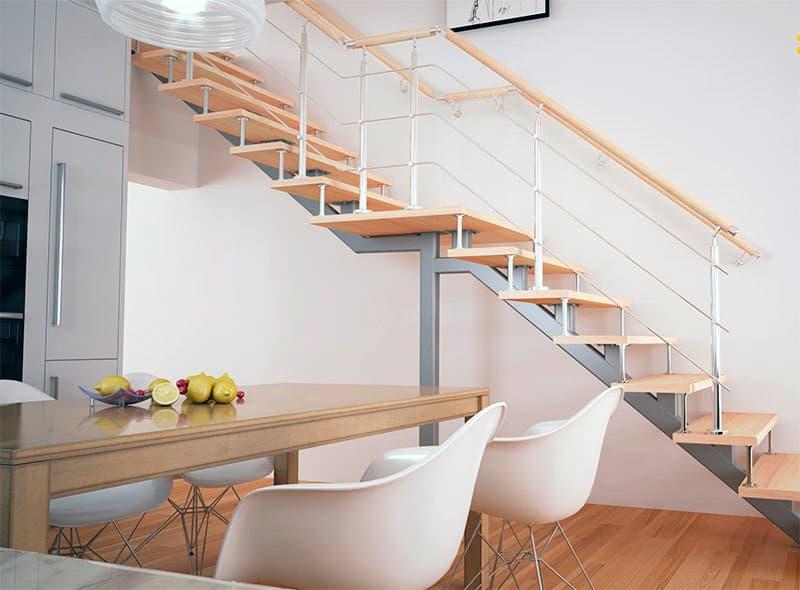 Прямая маршевая лестница с площадкой