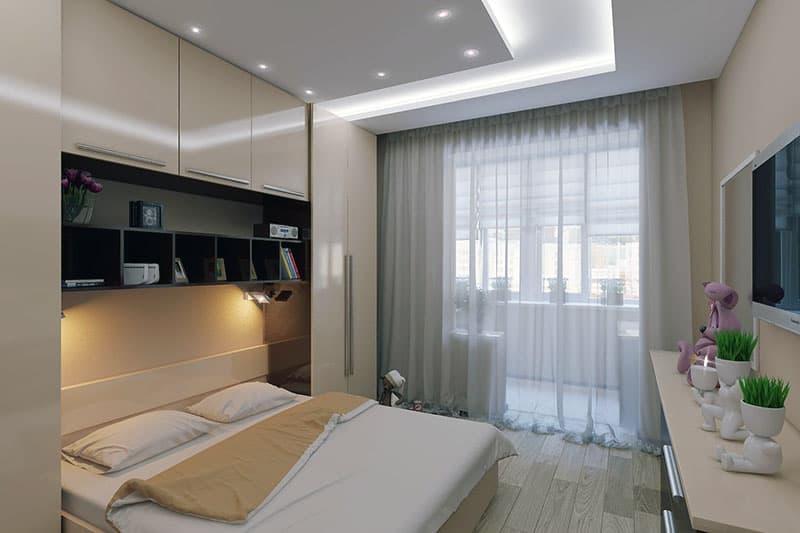 Расширение спальной комнаты за счет балкона
