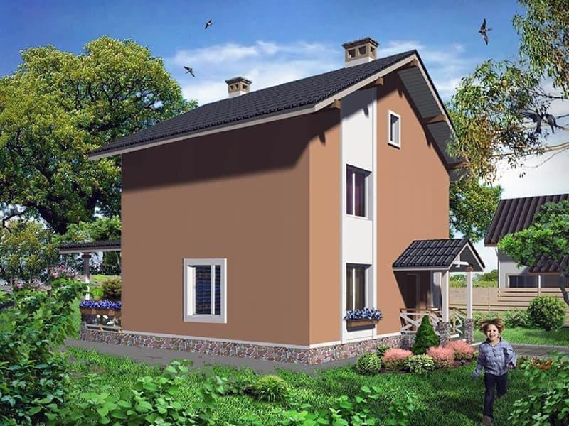Вартість будівництва двоповерхового будинку площею 105 квадратних метра