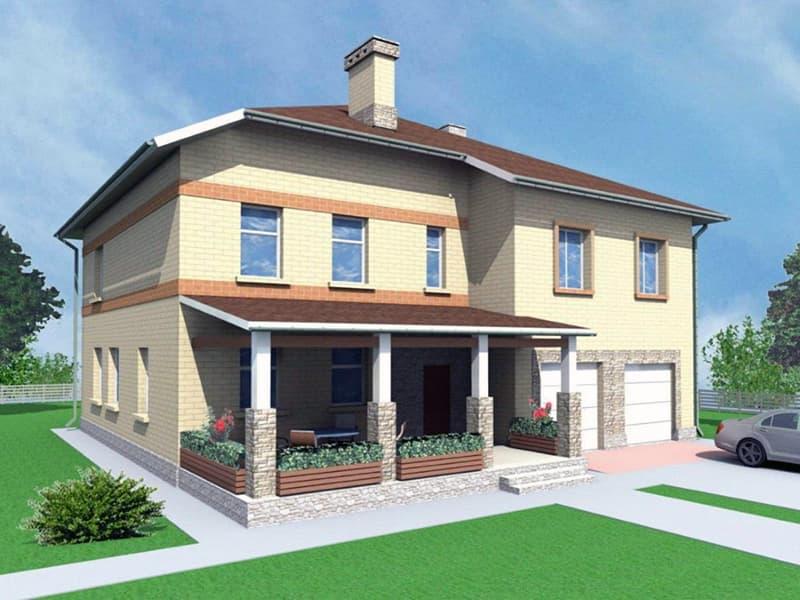 Вартість будівництва двоповерхового будинку площею 285 квадратних метра