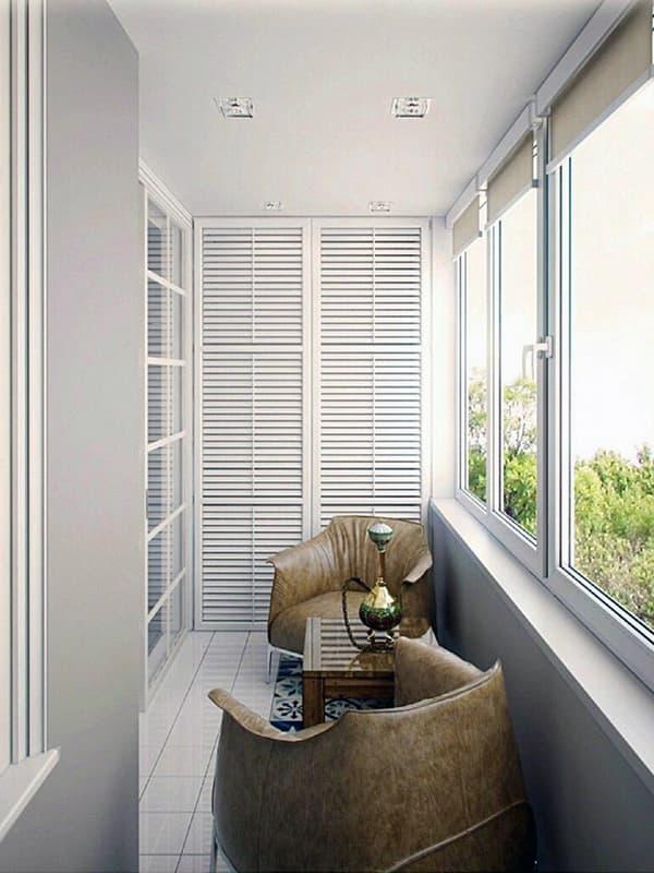 Цветовая гамма для балкона в зависимости от назначения