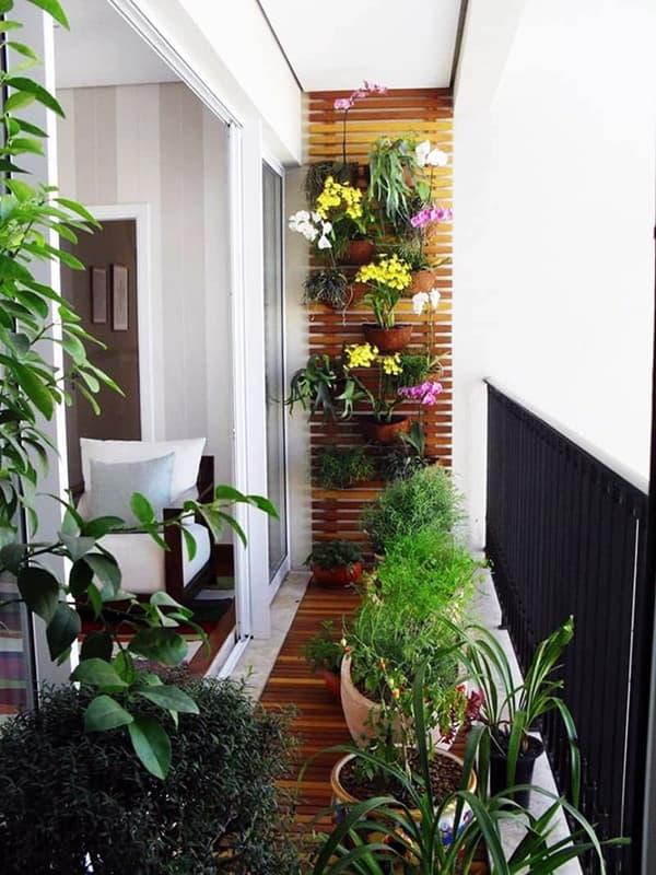 Вариант озеленения балкона квартиры
