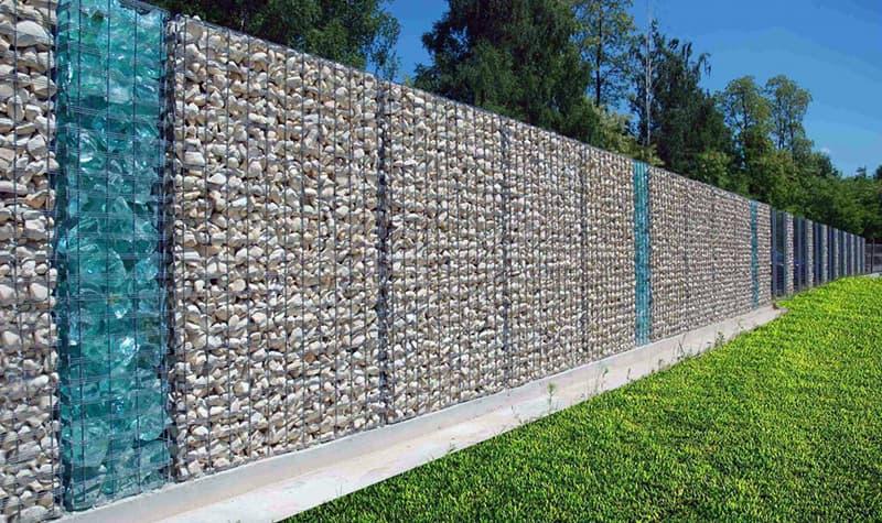 Зовнішній вигляд забору Габіон з каменю