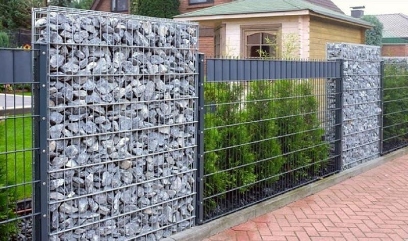 Забор из камня без раствора