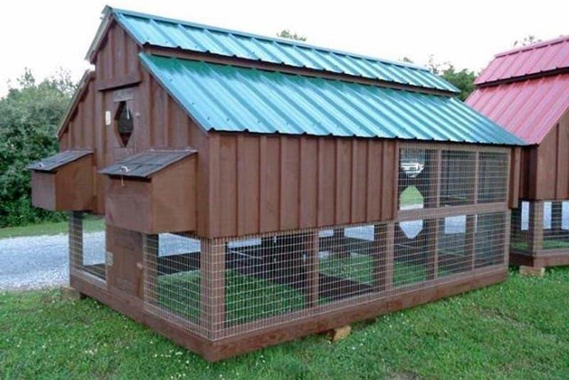 Крыша для курятника из профнастила
