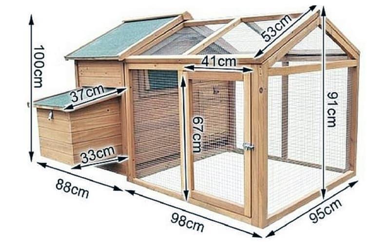 Розміри проекту курника