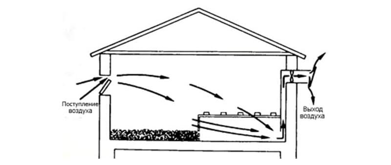 Устройство вентиляции в курятнике