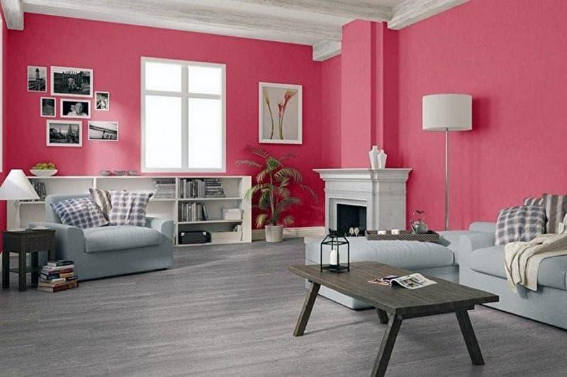 Акцентный цвет стен в комнате