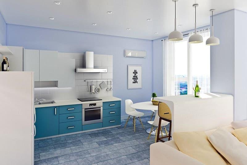 Покраска стен на кухне латексной краской