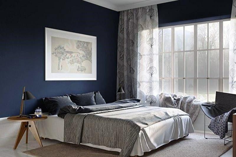 Покраска стен в спальной комнате латексными красками