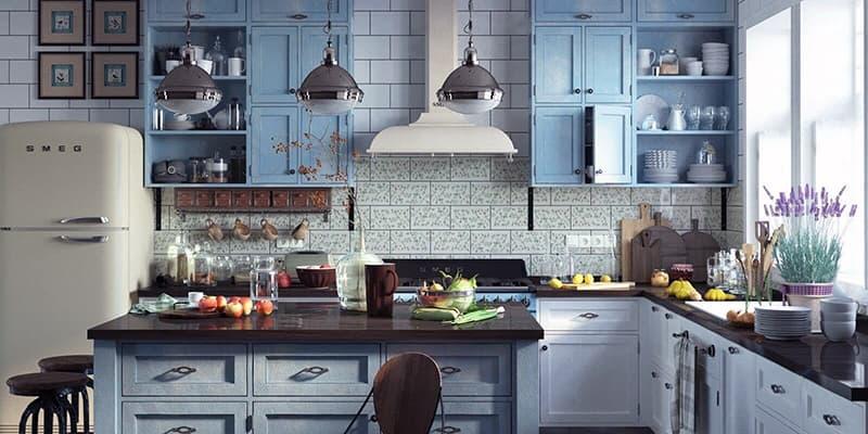 Декорирование и установка освещения на кухне