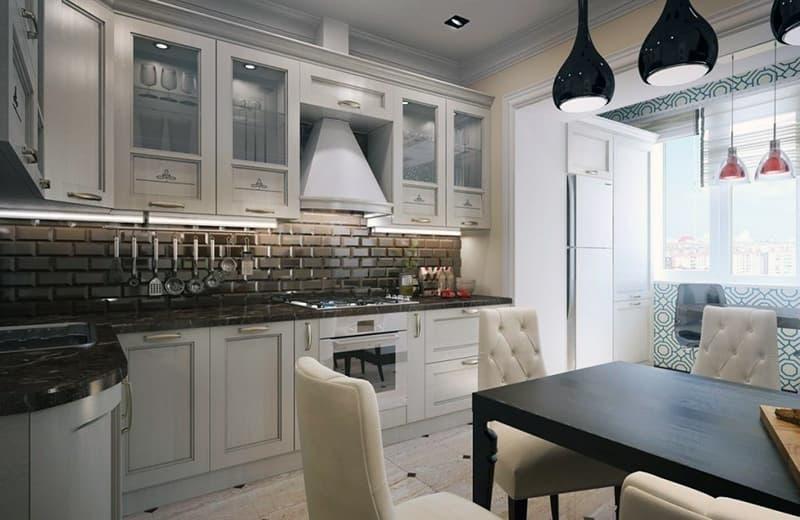 Как оформить кухню в неоклассическом стиле