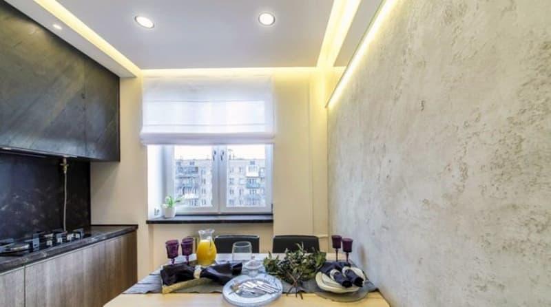 Классическое оформление стен на кухне